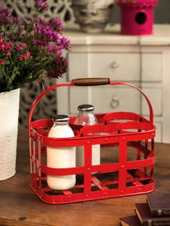 Racy Red 6 Bottle Caddy - Elan