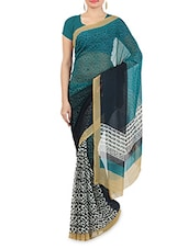Multicolored Faux Georgette Printed Saree - By - 9547131