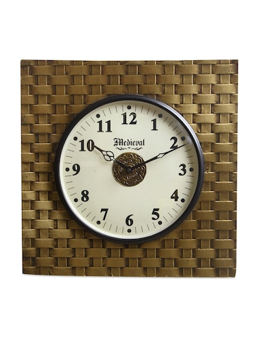 16edf753886 Buy Vintage Gold Wall Clock by Medieval India - Online shopping for ...