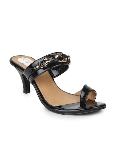 02e05c9c11b6 Buy Black Leatherette One Toe Sandals for Women from Do Bhai for ...
