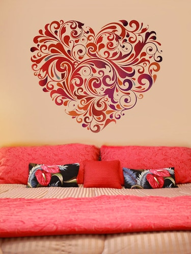 Heart Shaped Graphics Wall Sticker - 1024757 - Standard Image - 1