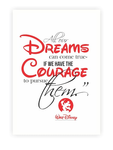 Walt Disney Christmas Quotes.All Our Dreams Walt Disney Inspirational Quotes Poster