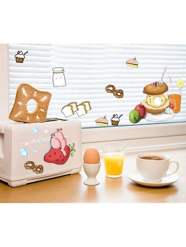 buy wall stickers for kitchen cabinet decor fruits food burger and
