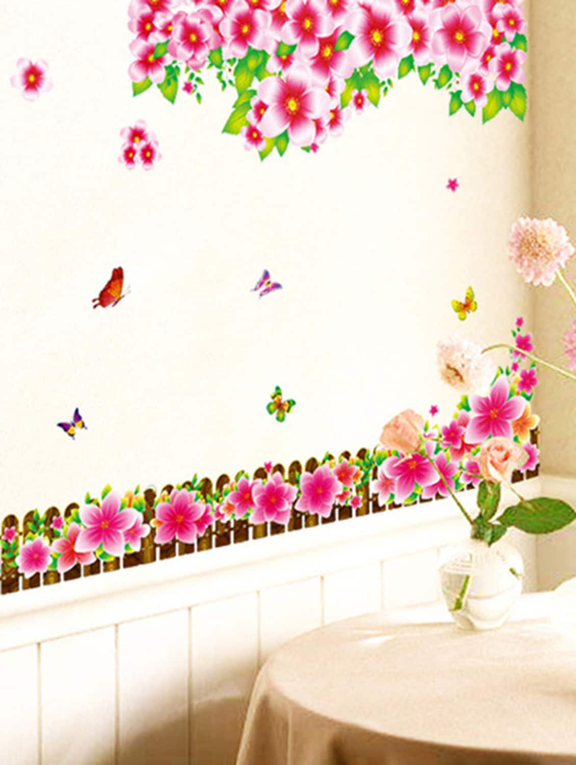 Buy Wall Stickers Flowers Lcd Tv Background Led Border Design Living