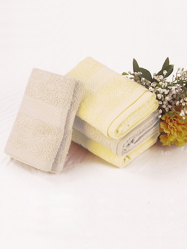Bianca grey, yellow COTTON towel set - 10384889 - Standard Image - 1