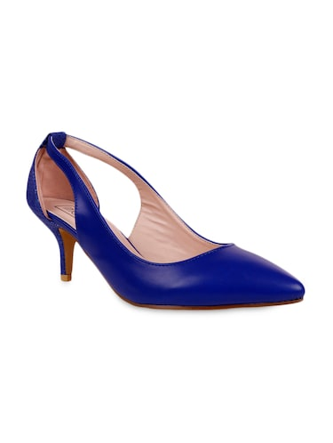 Buy Royal Blue And Snakeskin Kitten Heel Pumps for Women from Intoto ...