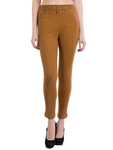 tan cotton jeggings - 10460734 - Standard Image - 1