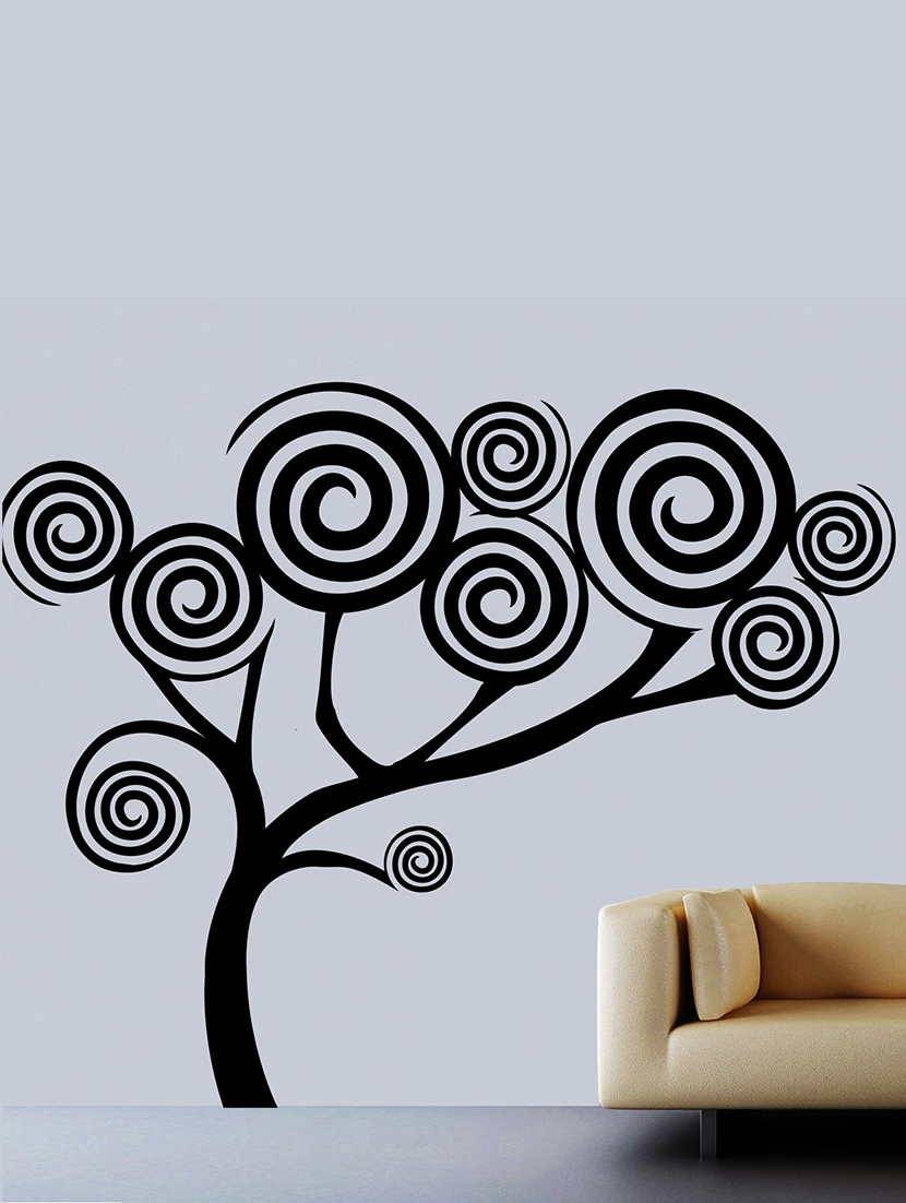 Buy Spiral Tree Wall Decal By Creative Width Online