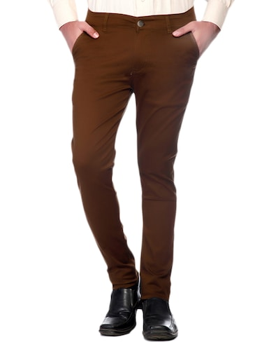 Stretchable Regular Fit Chinos - 10685871 - Standard Image - 1