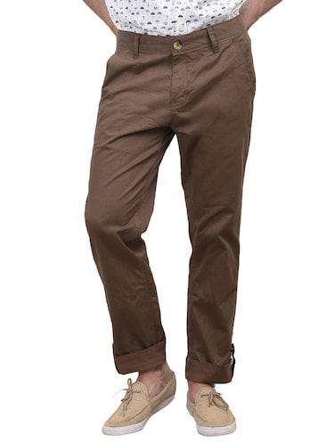 beige cotton trouser - 10736842 - Standard Image - 1