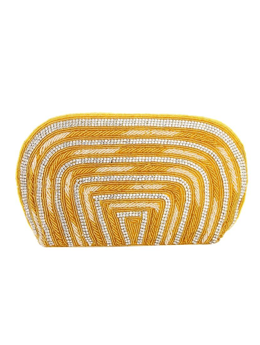 0b0a7bff496f Buy Gold Leatherette (pu) Regular Handbag by Ladybugbag - Online shopping for  Handbags in India
