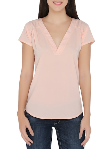 36e845e9ab69d7 Buy Beige Regular Top by The Beach Company - Online shopping for ...