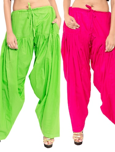 multi colored cotton combo salwars - 11120025 - Standard Image - 1