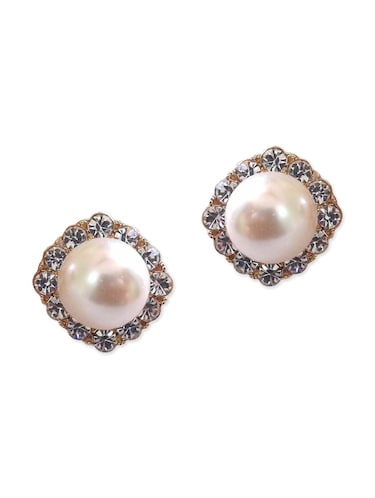 Buy Metal Alloy Stud Earrings For Non Pierced Ears By Shreya