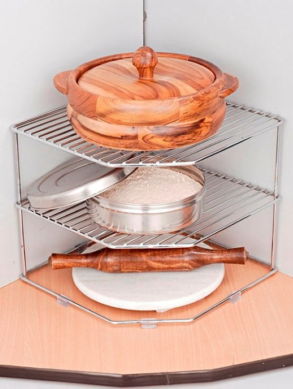 Chrome Plated Steel Kitchen Rack By Disha Online Ping For
