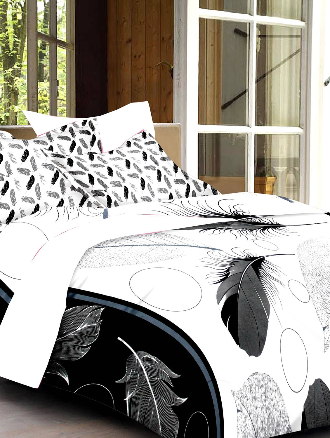 white and black bed sheets. Beautiful And Buy White And Black Printed Cotton Double Bed Sheet Set By Ahmedabad   Online Shopping For Sets In India  11343583 Intended Sheets L