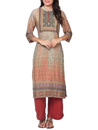 fa60f6a719506e Buy Multicolor Synthetic Kurta for Women from Rangriti for ₹1299 at ...