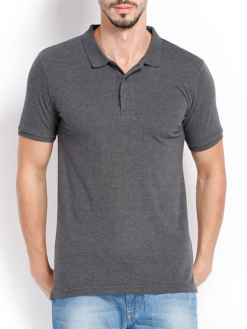 afc092a28 Buy Grey Polyester T-shirt by Highlander - Online shopping for T-shirts in  India | 11411611