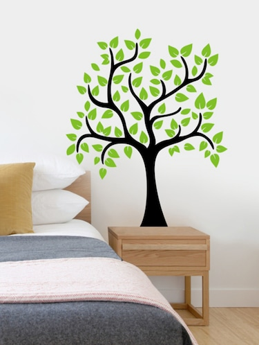Green Trunk And Leaves Vinyl Wall Sticker - 1144710 - Standard Image - 1