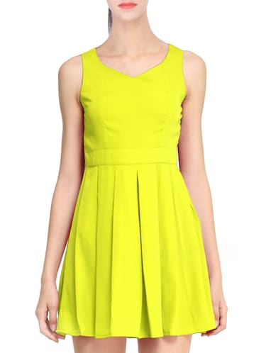 yellow skater dress - 11519474 - Standard Image - 1