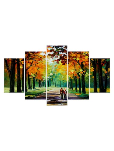 multi colored paper painting set of 5 - 11529583 - Standard Image - 1