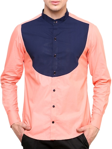 pink cotton casual shirt - 11536376 - Standard Image - 1