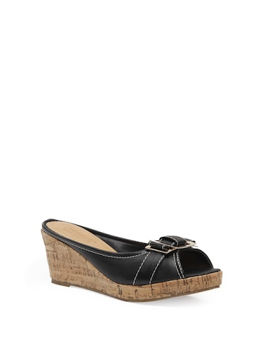 41e76a0aaf3c Buy Black Wedge Mules for Women from Pavers England for ₹1999 at 0 ...