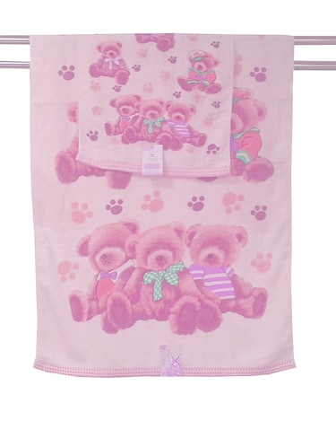 pink cotton set of hand and bath towel - 11704376 - Standard Image - 1