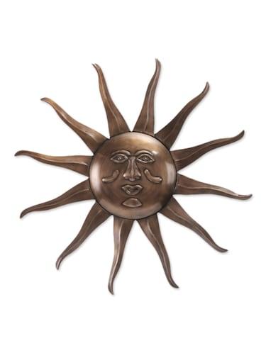 Online Antique Bronze Iron Sun Wall