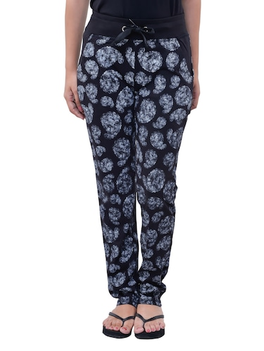 black cotton track pants - 11749937 - Standard Image - 1