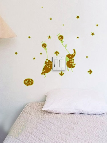 buy light off radium wall stickerscortina - online shopping for