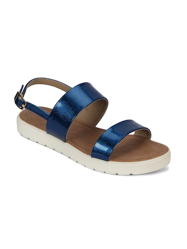 blue back strap faux leather sandal - 11816768 - Standard Image - 1