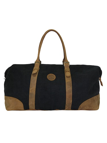 Buy Black Duffle Shape Jute Luggage Bag by Anges Bags - Online ... e4c1174f87227
