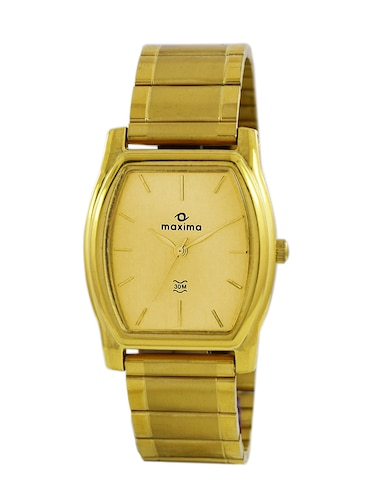 gold stainless steel wrist watch - 11903703 - Standard Image - 1