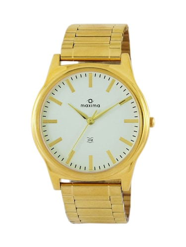 gold stainless steel wrist watch - 11904857 - Standard Image - 1