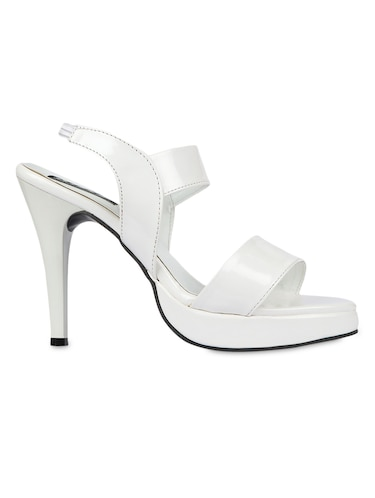 f0b7e69631dd Buy White Leatherette Stilettos by Kielz - Online shopping for ...