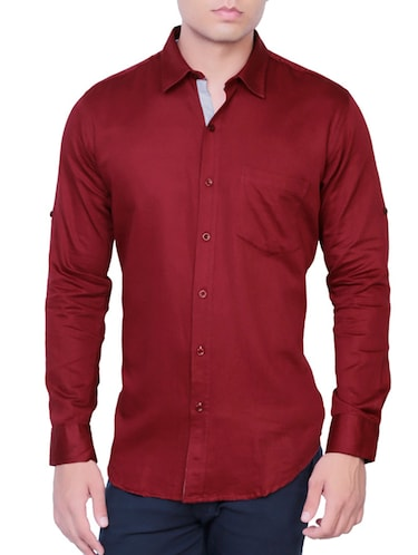 beige cotton casual shirt - 12105378 - Standard Image - 1