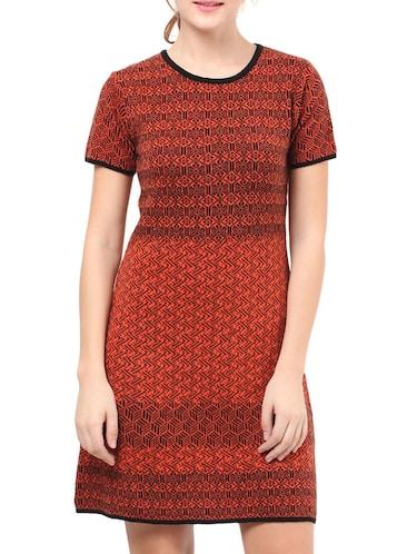 5661c0efef8c Buy Orange Acrylic Sheath Dresses for Women from Runway Modum for ...