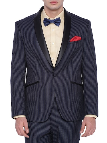 navy blue polyester formal blazer - 12268469 - Standard Image - 1