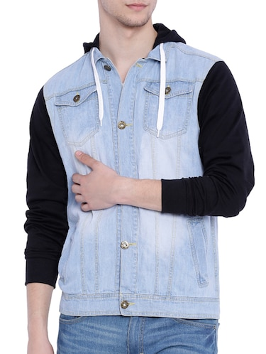 blue cotton denim jacket - 12268726 - Standard Image - 1