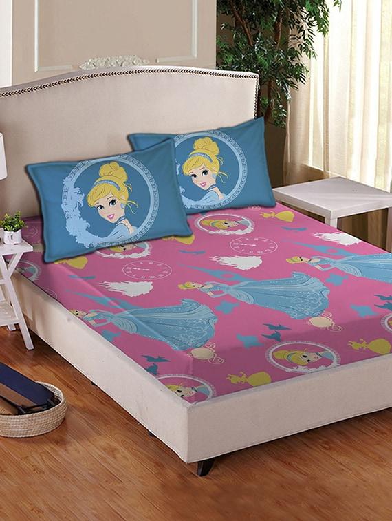 Buy Disney Princess Cotton Double Bed Sheet Set By Disney Online