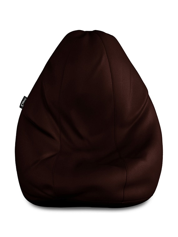 ... Story   Home GIANT Designer Recliner Bean Choclate Brown Faux Leather  Bean Bag Chair - XXL 8cddbc294a2ab