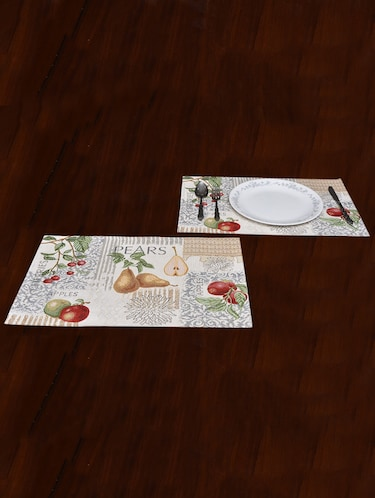 "Avira Home Fruity Magic Table Mat- Set of 4-Jaquard Woven-Machine Washable- (13""x19"") - 12468284 - Standard Image - 1"