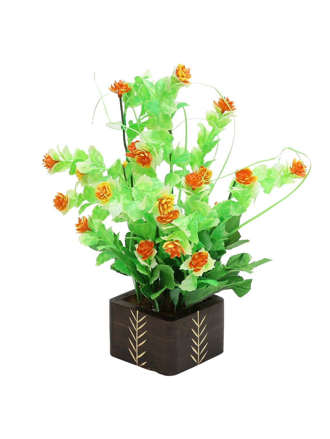 Random Artificial Potted Plant With Small Orange Flowers 12818960 Zoom Image 1