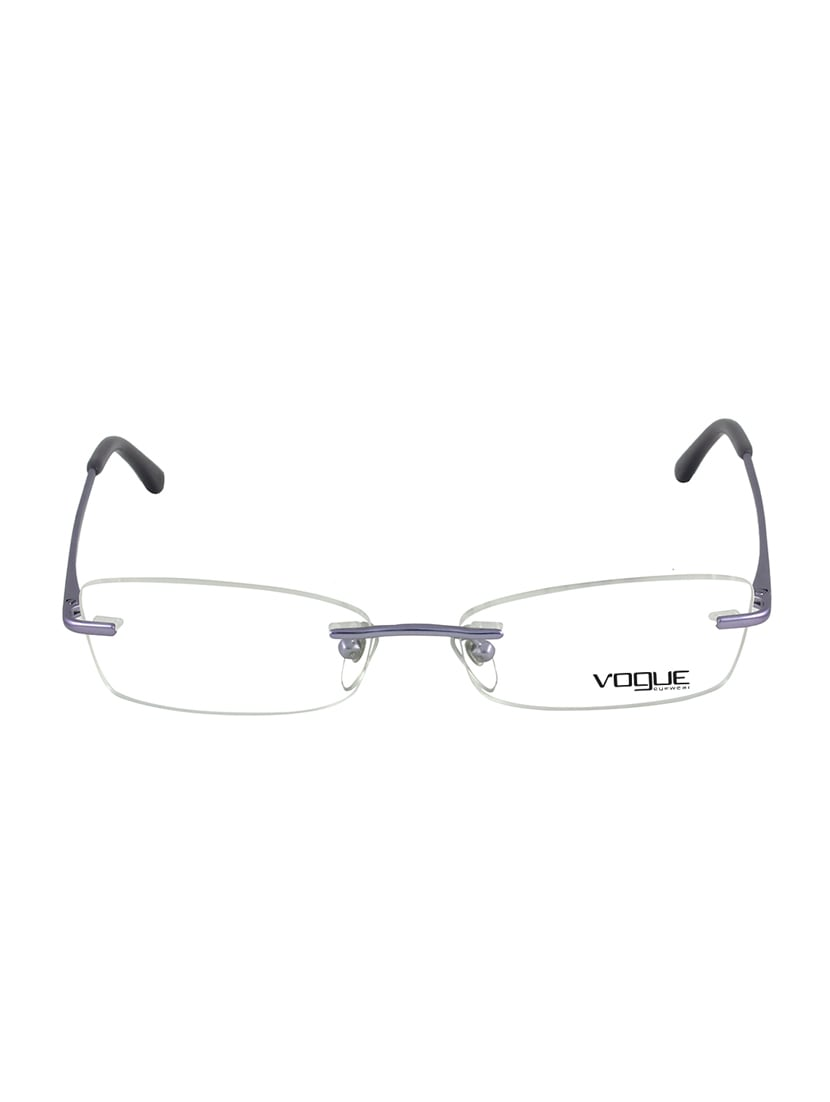 83c8bc342e0 Buy Rimless Rectangle Eyeglass by Vogue - Online shopping for Men ...
