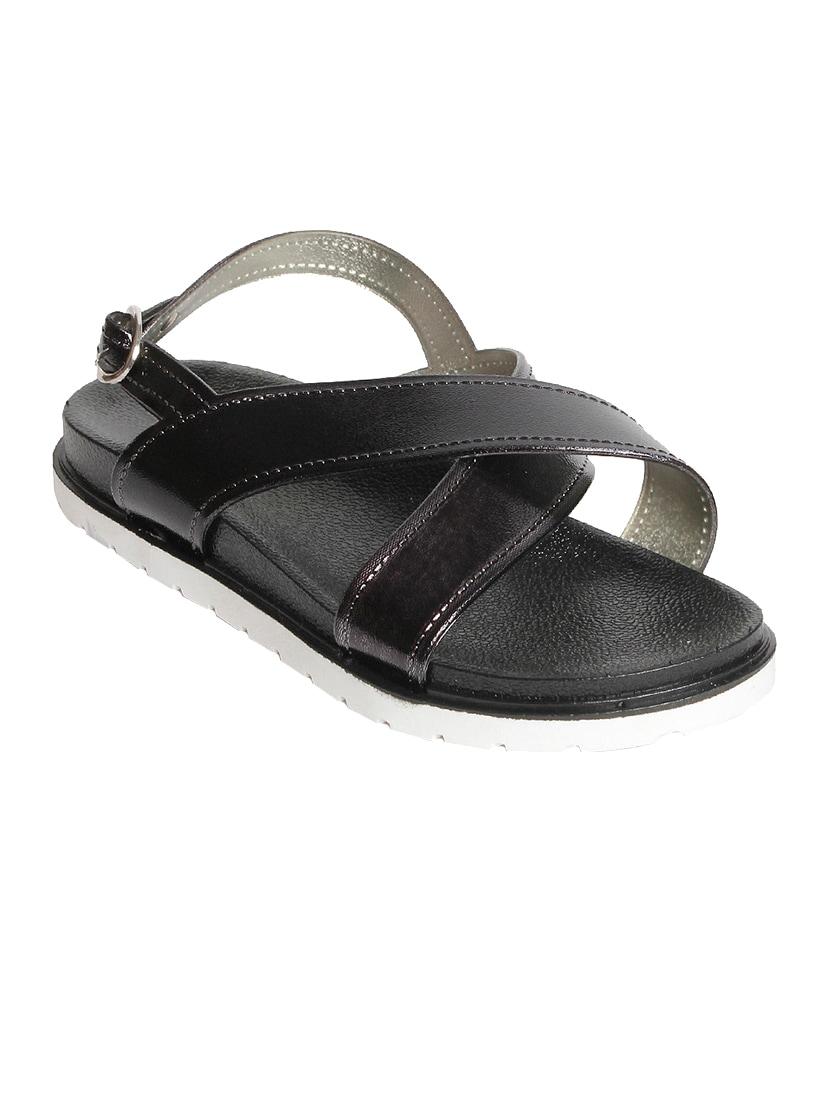 9d81a03da4a5 Buy Black Rubber Back Strap Sandals for Women from Meriggiare for ...