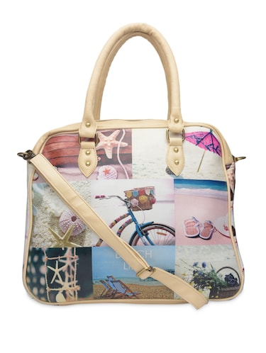 Multicolored beach printed faux leather handbag - 1290607 - Standard Image - 1