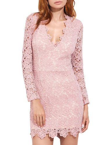fa27a794f960 Buy Light Pink Net Backless Dress by Liebemode - Online shopping for ...