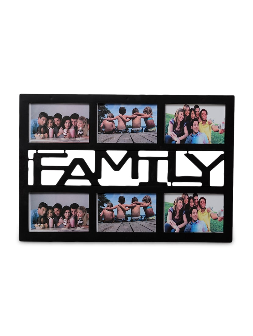 Buy Black Acrylic And Glass Photo Frame For 6 Photos by Ecraftindia ...