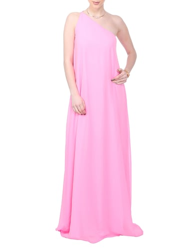 d60f077d00e5 Buy Pink Georgette Backless Dress by Scorpius - Online shopping for ...